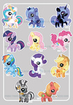 applejack big_macintosh dizziness fluttershy main_six nightmare_moon pinkie_pie princess_celestia princess_luna rainbow_dash rarity twilight_sparkle watermark zecora