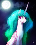 highres mare_in_the_moon moon nighttime princess_celestia zidanemina