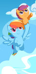 flutterluv highres rainbow_dash scootaloo
