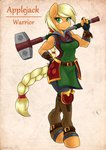 absurdres ambris anthro applejack armor hammer highres huge_filesize warhammer warrior weapon