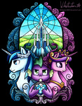 crystal_empire crystal_heart crystallized princess_cadance shining_armor spike stained_glass whitestar1802
