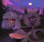 bat_pony dearmary moon nighttime original_character