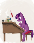 book coffee hawtkoffee inkwell magic quill reading twilight_sparkle