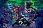 crystal_heart hammer harwick magic princess_cadance princess_flurry_heart shining_armor snow spear sword weapon yeti