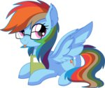 absurdres aureai book cyanlightning glasses highres rainbow_dash vector