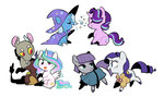 discord highres kilala97 maud_pie princess_celestia rarity shipping starlight_glimmer the_great_and_powerful_trixie