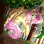 fluttershy forest trees yellowalpaca0726