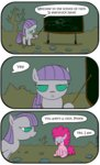 blackboard comic filly foudubulbe maud_pie pinkie_pie rock_farm