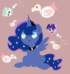 goose princess_celestia princess_luna princess_twilight twilight_sparkle upperthemoon