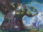 golden_oak_library highres library rainbow_dash sugarcube-owl traditional_art twilight_sparkle
