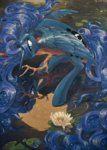 chio-kami flowers highres princess_luna reflection water