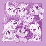 apple_bloom applejack cutie_mark_crusaders dstears fluttershy highres main_six pinkie_pie rainbow_dash rarity scootaloo sweetie_belle twilight_sparkle