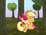 apple_bloom applejack apples highres scarleykwinn tree