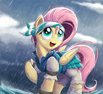 bugplayer clothes fluttershy highres pirate rain