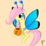 butterfly costume filly fluttershy halloween paradigmpizza