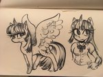 equestria_girls humanized puffpink traditional_art twilight_sparkle