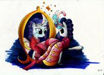 dress ecmonkey highres mirror rarity traditional_art