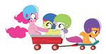 absurdres apple_bloom cutie_mark_crusaders highres korikian pinkie_pie scootaloo scooter sweetie_belle transparent vector