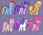applejack champion-of-namira fluttershy highres main_six pinkie_pie rainbow_dash rarity twilight_sparkle