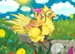 bird chocobo crossover dsana flowers scootaloo