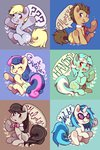 derpy_hooves highres lyra_heartstrings octavia_melody sweetie_drops time_turner vinyl_scratch xxmioxx