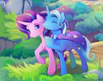bridge cape grass hat highres starlight_glimmer the_great_and_powerful_trixie viwrastupr