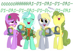berry_punch cider derpy_hooves dress drunk equestria-prevails golden_harvest lyra_heartstrings parody saint_patrick's_day scarf singing transparent whose_line_is_it_anyway
