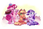 applejack cake cupcake doughnut pinkie_pie rarijack-daily rarity whitediamonds