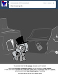 ask egophiliac filly grayscale hat moon princess_luna tophat woona woonastuck