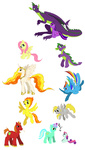 big_macintosh c-puff derpy_hooves fluttershy lyra_heartstrings princess_celestia rainbow_dash spike spitfire sweetie_belle twilight_sparkle