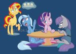 drink gintoki23 glass magic maud_pie starlight_glimmer sunset_shimmer table the_great_and_powerful_trixie