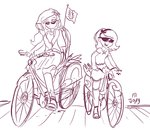 bicycle equestria_girls humanized jowybean princess_celestia princess_luna sketch