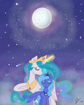 dreamscapevalley highres moon princess_celestia princess_luna woona