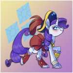 8-xenon-8 classical_unicorn clothes earring feather hat highres pirate rarity