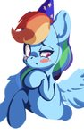 hat highres rainbow_dash tears tohupo