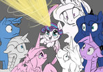 baby magic parents princess_cadance princess_celestia princess_flurry_heart princess_luna princess_twilight shining_armor silfoe twilight's_dad twilight_sparkle twilight_velvet