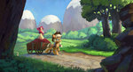 apple_bloom applejack apples cart highres jotun22 trees