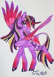 fat-bot highres princess_twilight redesign traditional_art twilight_sparkle