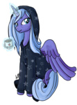 aellos coffee hoodie magic princess_luna transparent