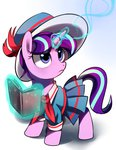 book filly hat highres magic sion-ara snowfall_frost starlight_glimmer