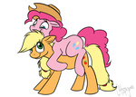 applejack c4tspajamas hugs pinkie_pie
