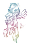 chicasonic noogie rainbow_dash scootaffection scootaloo