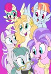 cloudy_quartz cookie_crumbles docwario highres mrs_shy parents pear_butter twilight_velvet windy_whistles