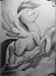 highres ponsce rainbow_dash traditional_art