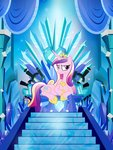 crystal game_of_thrones highres pixelkitties princess_cadance smug throne