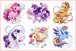 applejack balloon bird book button fluttershy ink kutty-sark lasso magic main_six needle pin pincushion pinkie_pie princess_twilight quill rainbow_dash rarity ribbon rope scroll thread twilight_sparkle
