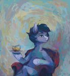 absurdres chair highres malinetourmaline original_character sitting tea teacup