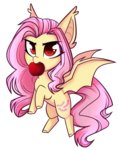 apples bat_pony cloud-fly flutterbat fluttershy highres