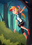 ajvl equestria_girls forest highres humanized rainbow_dash tree