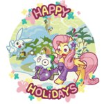 angel animated fluttershy huge_jerk lowres panyang-panyang snow spike winter